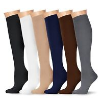 Graduated Compression Socks Foot Support Stockings Over Calf Below Knee High Lot