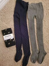 Janie and Jack girl tights 4-5 lot of 3 EUC
