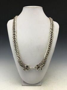 China's Tibet silver handmade craft fine necklace