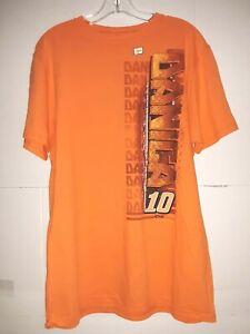 Danica Patrick # 10 Nascar Orange Men's Shirt, Size Large