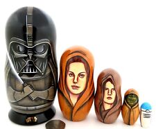Muñecas Rusas Anidación Darth Vader Star Wars Padmé Anakin Skywalker Yoda 5 Firmado