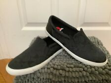 NWOB Coach Alegra Black Logo Slip-On Sneakers, Size 6