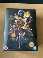 Avengers Endgame 3D/2D Blu Ray Collectors Edition Steelbook NEW/SEALED Lights Up