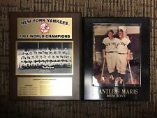 Mickey Mantle & Roger Maris Plaques