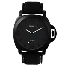 Laurels Large Size Invaders Series Black Color Men Watch (LO-IND-0202BLK)