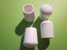 4 x Stuhlbeinkappen schwarz o. wei�Ÿ, Gr.16-25 mm, Stuhlgleiter-Rohrkappen-Kappen