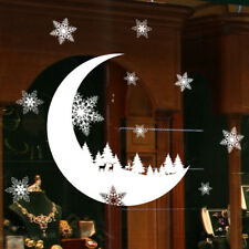 PVC Snowflake Window Decoration Wall Sticker for  Christmas Festival