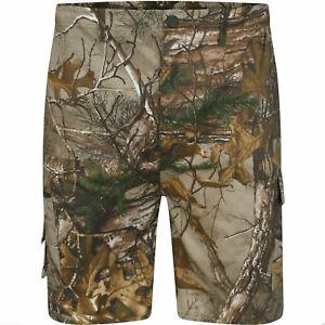 Men's Elasticated Jungle Cargo Shorts Hunting Fishing Camouflage  M - 2XL