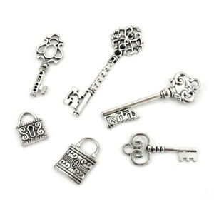 Deko-Schlüssel Scrapbooking 6-tlg.