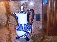 Bombay Co. Coffeepot  Cobalt Blue with Platinum Trim