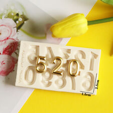 Number Silicone Fondant Mould Cake Decorating Sugar Craft Topper Chocolate Mold