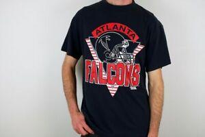Vintage 90s Atlanta Falcons NFL T Shirt Funny Black Vintage Gift Men Women Tee