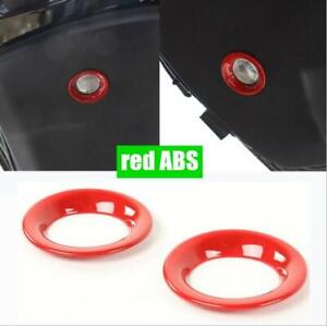 Fit For Dodge Durango 2011-2020 2021 RED ABS Tailgate lighting ring cover trim*2