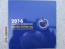 Beatrix POTTER ALBUM + 50p 2016 La signora Tiggy Winkle MONETA 50 Pence Moneta