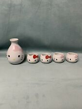 Collectible Sake Set Hello Kitty Style 4 Cups 1 Carafe Imported From Japan