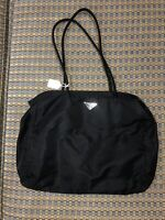 0c61a8b57bf7 PRADA Black Nylon Tessuto Sport Mini Hobo Bag Purse Handbag