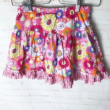 Hanna Andersson Girls 8Y/130 cm Floral Ruffle Tiered Pull On Skirt