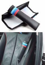 2 x Car Auto carbon fiber Seat Belt Cushion Cover Pads Seat Belt Pad for BMW M