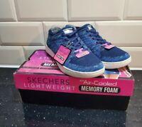 NEW SKECHERS ladies Sneakers Trainers MILLENNIAL  VISIONARY Blue size 5.5 uk nib