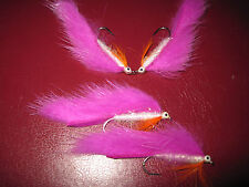 4 V Fly Size 8 Ultimate Rio Grande Pink Diamond Minkie Sea Trout Flies
