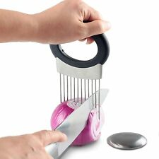 Easy Onion Holder Slicer Vegetable Tools Tomato Cutter Meat Fork No More Stinky