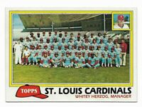 1981 Topps St. Louis Cardinals Team Set with Traded and Ted Simmons