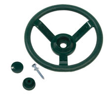 Garden Games Toy Steering Wheel for Children's Climbing Frame or Playhouse Green