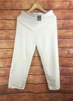 New J Jill White Essential Cotton Stretch Crop Pants - All Sizes