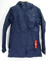 New The North Face Womens Athletic Navy City Midi Trench Jacket Hiking Coat M