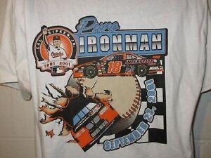 Vintage 2001 NASCAR MBNA Cal Ripken Jr Pure Ironman T-Shirt XL