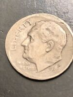 1989 P Roosevelt Error Dime Off Center Strike DDO.