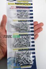 100 PC Pop Rivet Assortment Set Aluminum Blind Riveter Gun Hand Air