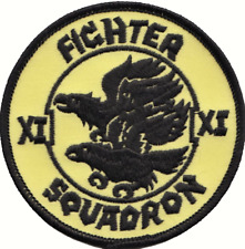 No. XI (11) Squadron RAF Fighter Squadron Eagles Round Embroidered Patch