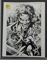 Original DC Comic Art Print of Batman, Batgirl and the Joker by Drew Geraci