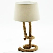 Twisted Rope Table Lamp And Shade