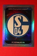 PANINI CHAMPIONS LEAGUE 2010/11 # 107 FC SCHALKE 04 BADGE BLACK BACK MINT!