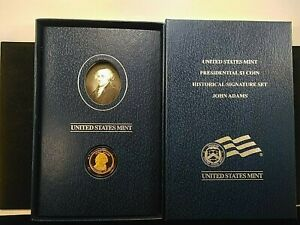 "2007-S John Adams ""Proof""  Presidential $1 Coin Historical Signature Set -K5"