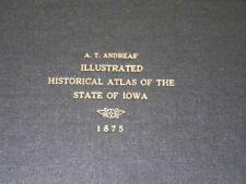 XRARE: A T Andreas' Illustrated Historical Atlas of the State of Iowa 1875 orig.