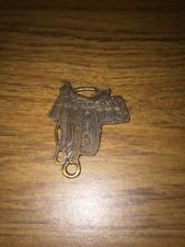 Saddle Pocket Watch Cover Pueblo Solid Brass Antique Style Horse Western Gear