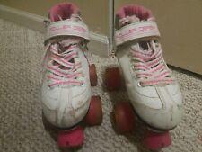 Roller Derby Girls' Sparkle Quad Wheel Roller Skates White/Pink Size 2