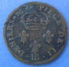 France - Frankrijk : Louis XIV, 2 Deniers 1699 BB (Strasbourg), Gadoury 72