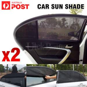 2x Side Rear Seat Window Mesh Sun Shade Car Window Socks Baby Kid UV Protection