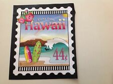 State Stamp fabric mini-panel - Hawaii