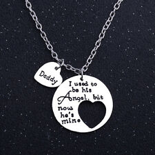 I Used To Be His Angel,Now She's Mine Daddy Heart Family Chain Pendant Necklace