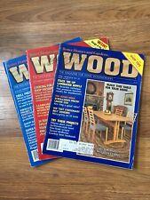 Lot 3 Vtg Wood Magazine Better Homes Gardens 1988 1989 April August December