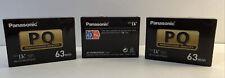 Panasonic, Digital Video Cassette Ay-Dvm63Pq Mini Dv (Brand New) Lot of 3 tapes.