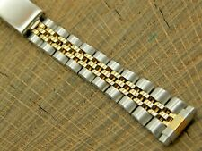 NOS Vintage Unused Hadley Roma Deployment IP Gold Plating Watch Band 10mm-14mm