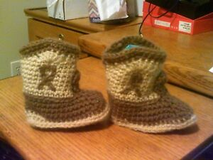 "ADORABLE!!  Handmade Baby Cowboy Boots 4 1/2"" Foot length"