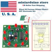 1PCS Round Electronic Lucky Rotary Suite CD4017 NE555 Self DIY LED Light Kit