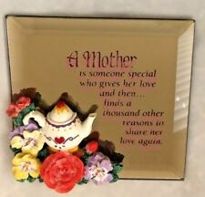 "Glass Mirror 4X4"" Magnet Sign: Mother is Someone Special."